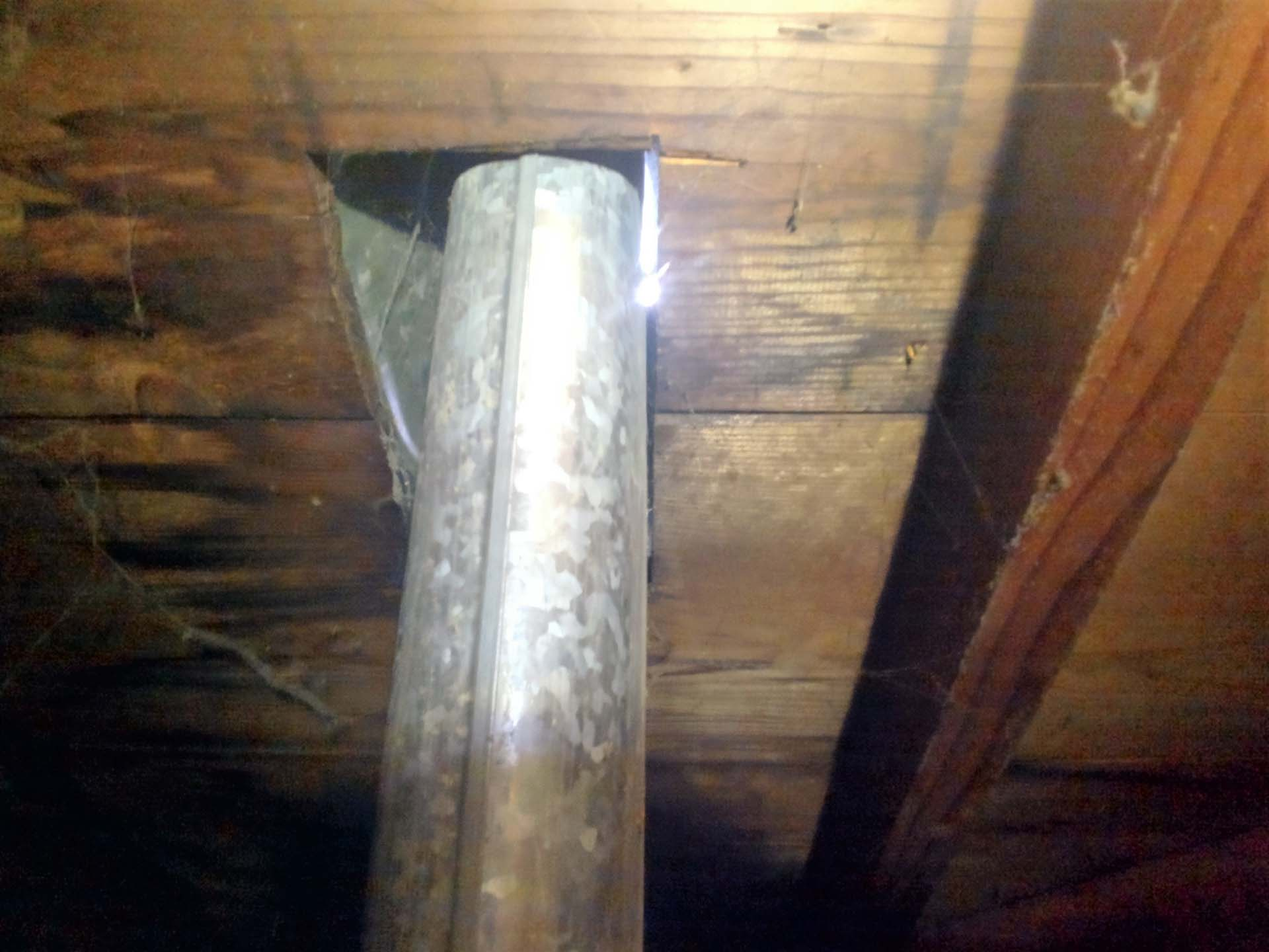flue touching wood
